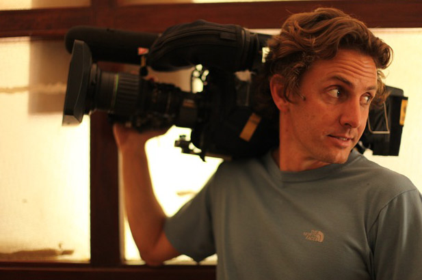 Photo of Michael Davie with his video camera